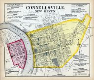 Connellsville, New Haven Fayette County 1872 Pennsylvania  map online